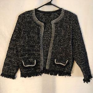 Ann Taylor Medium Jacket Black Metallic 1484
